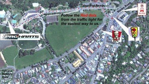 Location For Pro Karts Tahunanui Beach Nelson New Zealand
